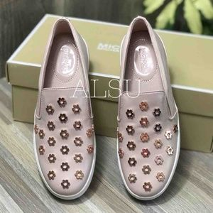 Michael Kors Shoes - NWT Michael Kors Keaton Slip On Leather Soft Pink